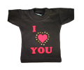 mini t-shirt I love you
